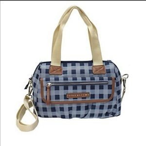 Lily Bloom Abigail Satchel in Picnic Plaid Navy